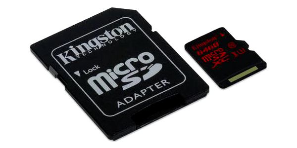 Kingston 64GB UHS-I U3 (90R/80W) + adapter (SDCA3/64GB)