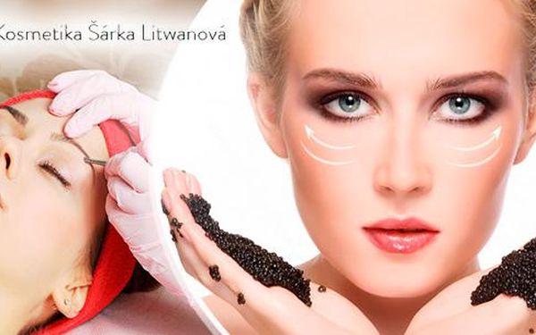 Luxusní kaviárové ošetření pleti v délce 90 minut v Plzni.