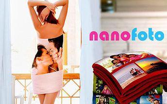 Kvalitní fleesová deka, ručník nebo osuška s vlastním fotopotiskem