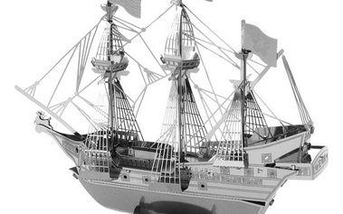 3D kovové puzzle - pirátská loď