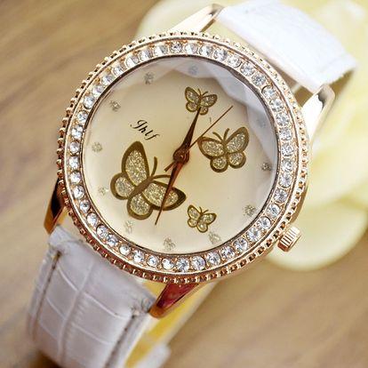 Dámské hodinky s motýlím ciferníkem - dodání do 2 dnů