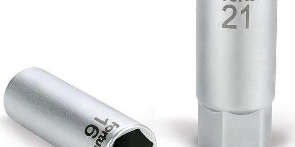 """Fortum (4700904) hlavice nástrčná na zapalovací svíčky, 1/2"""", 21mm, L 65mm, magnet, 61CrV5"""