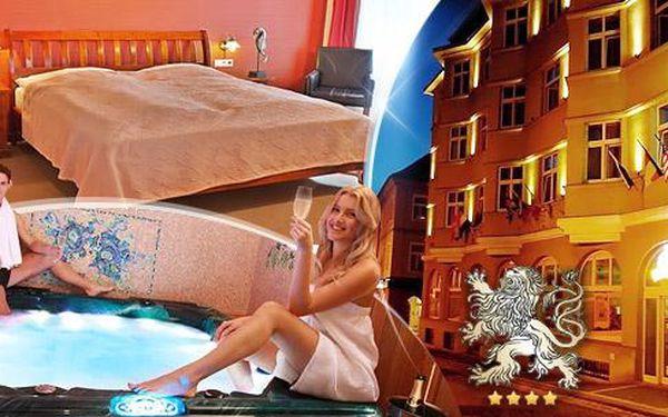 Romantický víkendový wellness pobyt na 2-3 dny pro dva v luxusním Hotelu Zlatý Lev Žatec****
