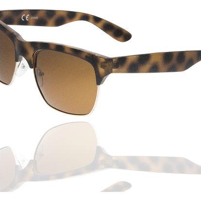 Fashion Icon Sluneční brýle Retro Clubmaster unisex hnědé