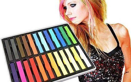 Barevné křídy na vlasy 24 barev