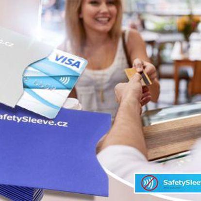 Bezpečnostní obal na bezkontaktní kreditní kartu - 2 ks v balení. Poštovné zdarma.