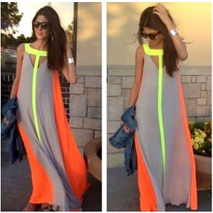 Chifonové maxi šaty - 4 barvy