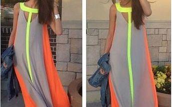 Letní plážové maxi šaty - 4 barvy