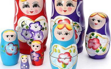 Ruské matriošky - 3 barvy