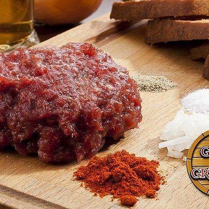 300g delikatesní tatarák z belgického býčka v Gyros & Grill baru ve Frýdku-Místku