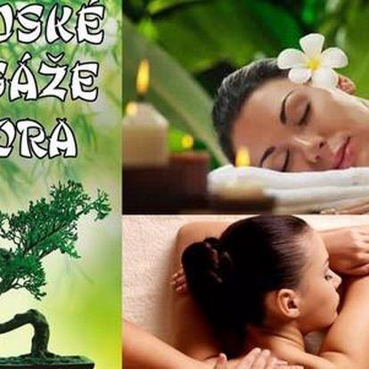 60minutová masáž dle výběru od profesionálních rodilých Thajek