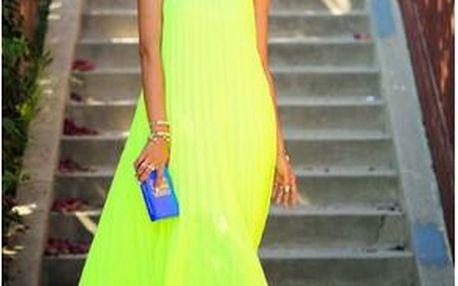 Neonové maxi šaty