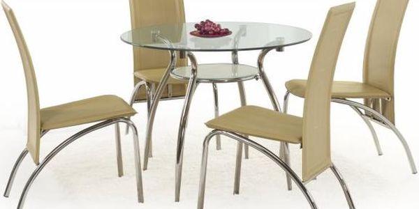 Kulatý skleněný stůl Damaso