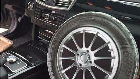 3D podsedák ve tvaru kola na auto - skladovka - poštovné zdarma