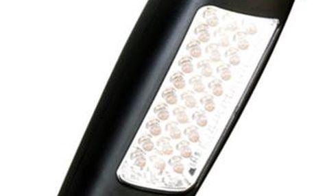 Montážní LED lampa, 24 + 7 LED, černá