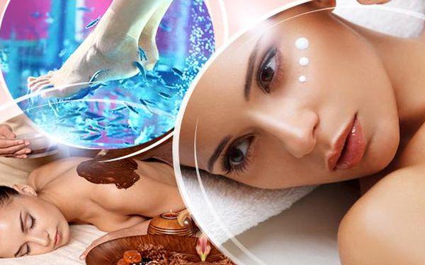 Beauty day: kosmetické ošetření a čoko masáž + možná rybičková terapie a lifting, 120-170 min.