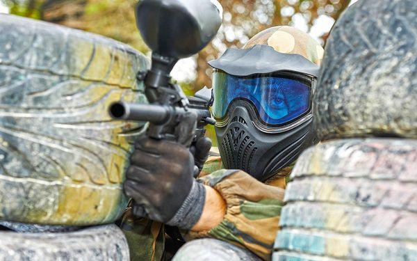 Paintballová střílečka na 5 venkovních hřištích