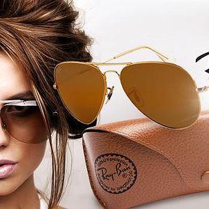 Luxusní unisex sluneční brýle značky Ray Ban Aviator včetně koženého pouzdra!