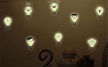 Fluorescenční samolepky - Žárovky - skladovka - poštovné zdarma