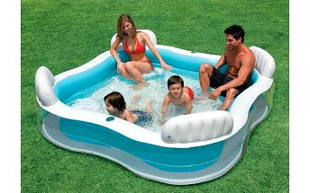 Rodinný bazén se čtyřmi křesílky a držákem na lahev zn. Intex