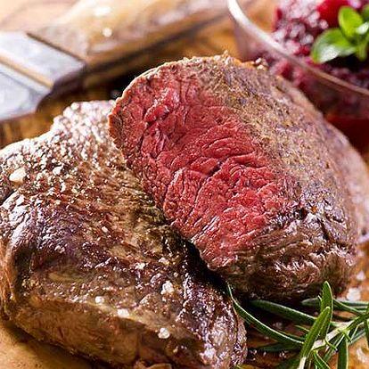Božské steakové menu s předkrmem pro dva