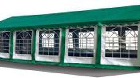 Party stan Premium Ohnivzdorný 6x12m (zeleno-bílý se zelenou střechou)
