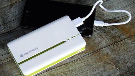 Powerbanka GoGEN 13000 mAh se kterou dobijete telefon až 5x