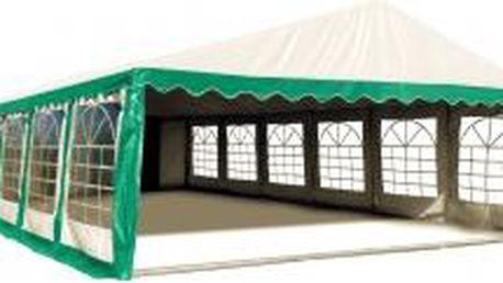 Párty stan Premium Ohnivzdorný 6x12m (zeleno-bílý)