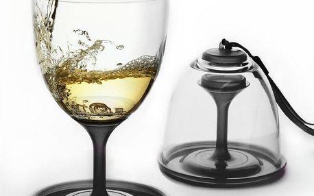 Sada skleniček na víno Stack N' Go Vino, černá