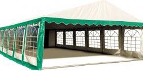 Párty stan 6x12 m PVC Standard Zeleno-bílý