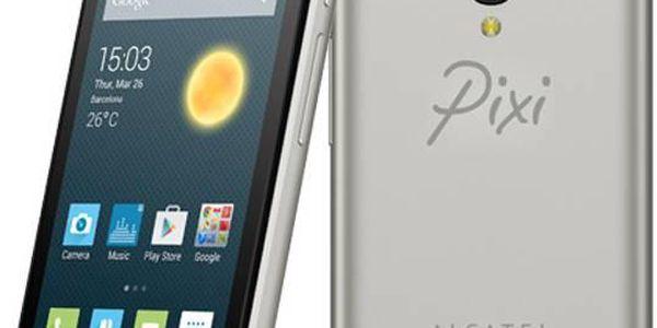 Mobilní telefon ALCATEL ONETOUCH 4027D Pixi 3 (4.5) (4027D-2DALCZ1) stříbrný