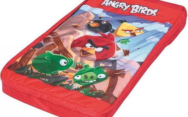Dětské nafukovací lehátko se spacákem 2 v 1 Angry Birds