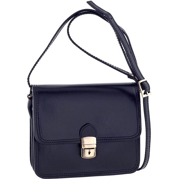 Kožená taška Ore Diece Agrigento, modrá - doprava zdarma!