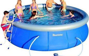 Bestway Rodinný bazén s filtrací a plachtou 457x107 cm