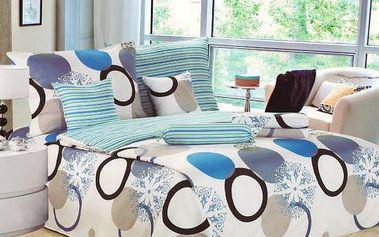 NOVIA Povlečení Comfort+, bavlna, 8 dílné, 140x200 70x90 40x40 20x40 220x230, Vzor PC03