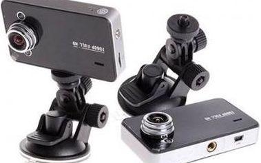 Kamera do auta s nočním viděním a G-senzorem pro nepřetržité nahrávání.