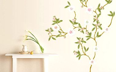 Samolepka Ambiance Flowering Magnolia, 110 cm