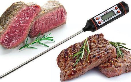 Praktický vpichovací teploměr pro přípravu dokonalých pokrmů