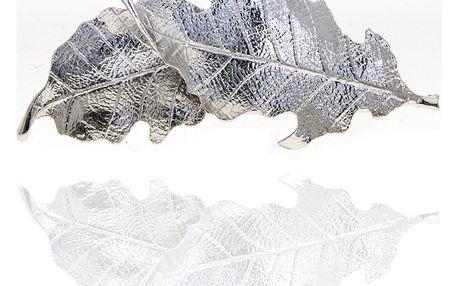 Fashion Icon Spona na vlasy listy stříbrné středné