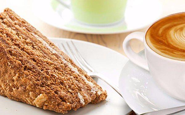 Luxusní káva a dezert pro dvě osoby