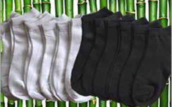 Velká sada kotníčkových ponožek do tenisek. Bambusové vlákno vás bude v létě příjemně chladit.
