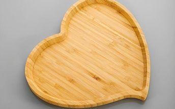 Bambusový servírovací podnos Amor, 23 cm
