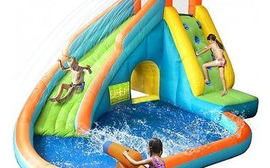 Skákací hrad Happy Hop - Vodní skluzavka s vodním dělem Sharks BA009