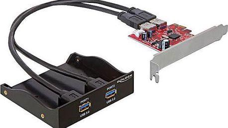 """Delock 3.5"""" přední panel s 2x USB 3.0 porty + PCI Express adaptér - 61775"""