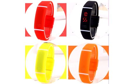 Silikonové LED hodinky pro sportovní nadšence