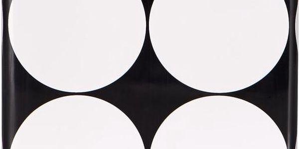 BLACK & WHITE Váza kostka 12cm