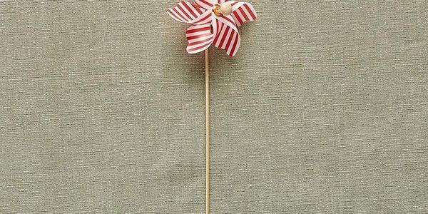 WINDY Větrník s pruhy 9cm