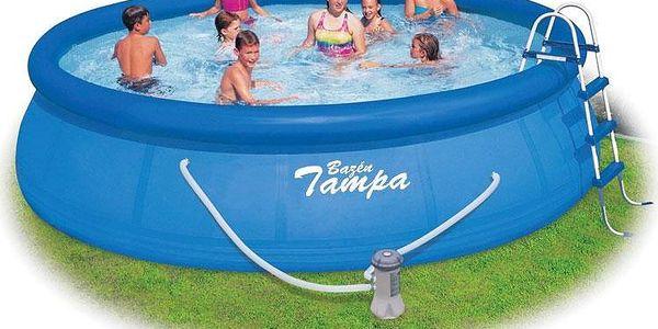 Marimex Tampa 4,57 x 1,22 m KOMPLET - bazén, kartušová filtrace 4m³/h, schůdky, podložka pod bazén, krycí plachta