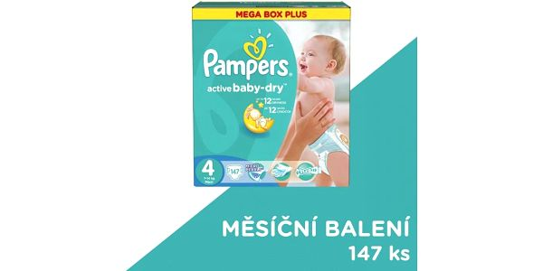 Pampers Pleny Active Baby 4 Maxi (7-14kg) Megabox Plus - 147 ks