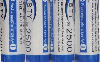 Nabíjecí tužkové AA baterie BTY 2500mAh - 4ks